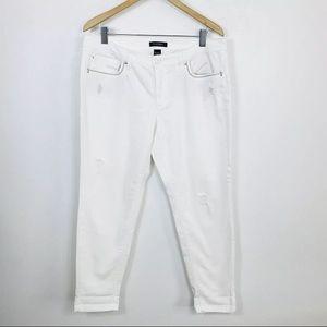 White House Black Market 12 Girlfriend White Jeans